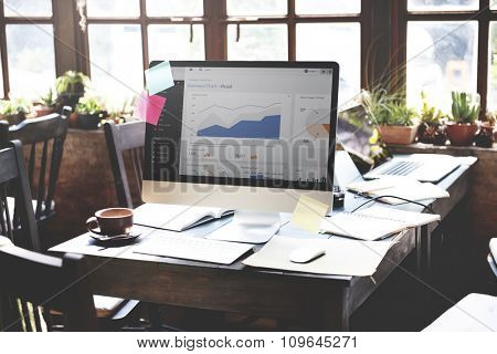 Business Chart Report Statistic Planning Analysis Concept
