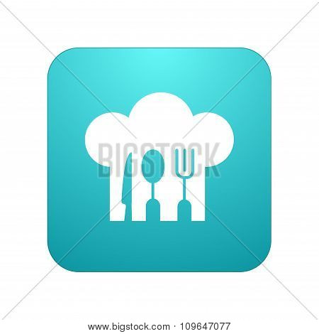 Vector modern restaurant app icon on white