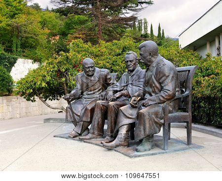 YALTA - OCTOBER 9: Monument to the