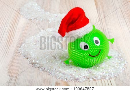 Smiley On The Background Of Christmas Snow