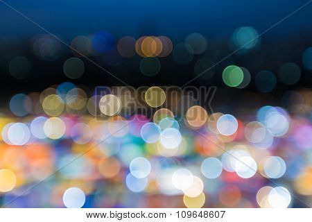 Night background multiple colour city lights
