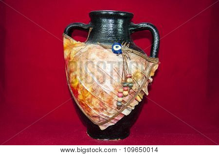 Black ancient jug