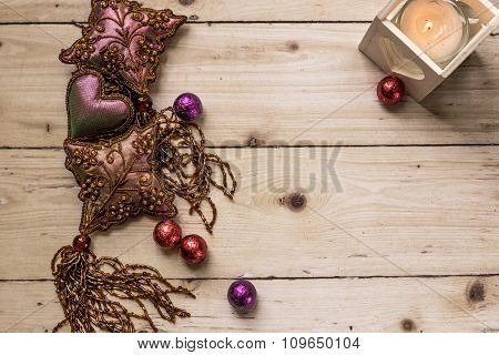 Luxurious Decoration Objects On Wooden Background