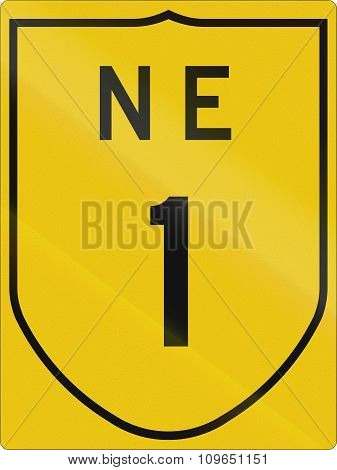 Indian National Expressway Number 1 Route Shield