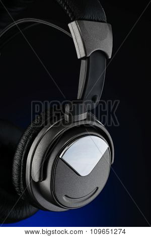 Wireless Headphones Isolated On Black