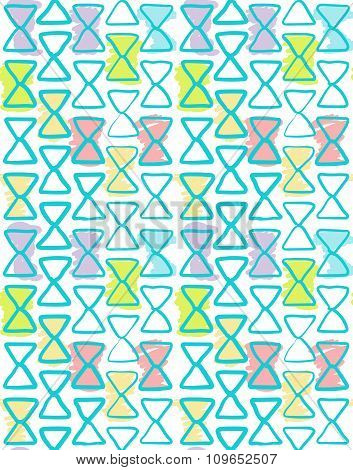 Seamless geometric pattern watercolor color