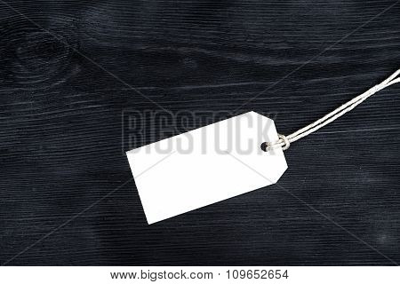 Blank Tag, Tied With Rope