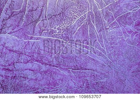 Linoleum With Purple Abstract Pattern With Bright Golden Streaks