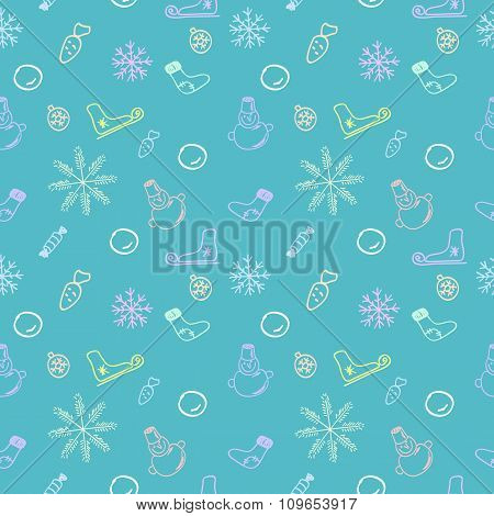 Seamless color pattern for Christmas and New Year