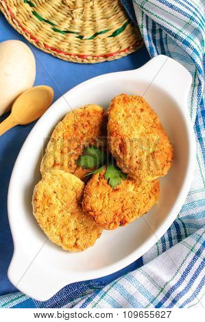 Vegetarian Cutlets With Spices, Selective Focus.