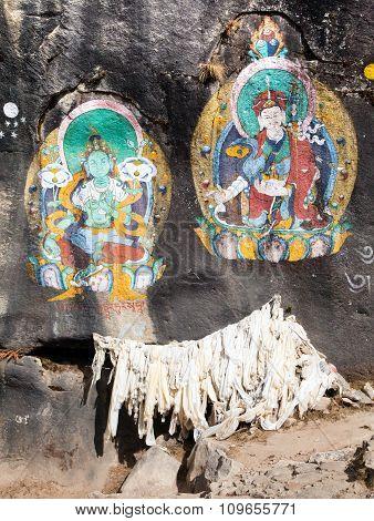 Buddhist Picture Near Thame Village
