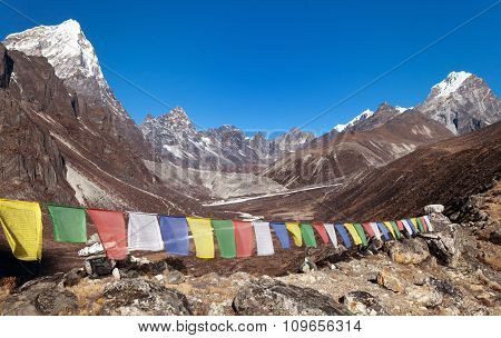 Buddhist Prayer Flags Near Dusa Village