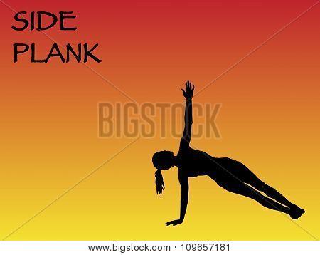 Yoga Woman Side Plank Pose