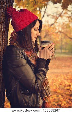 Girl Holding Coffee