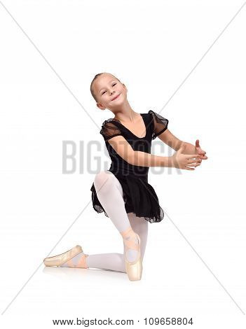 Little Beautiful Ballerina Dancing