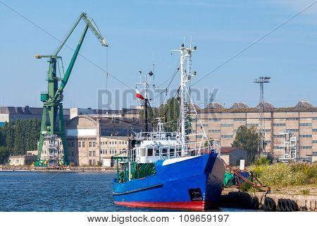 Gdansk. Shipyard in the seaport.