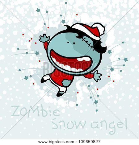 Zombie snow angel
