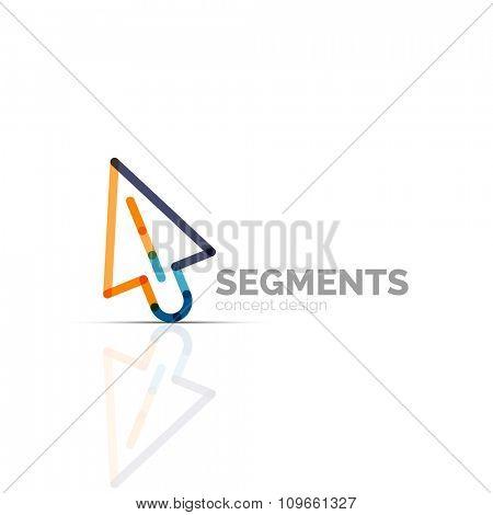 Arrow icon logo. Company branding element. Illustration
