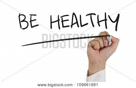 Health Concept Typography