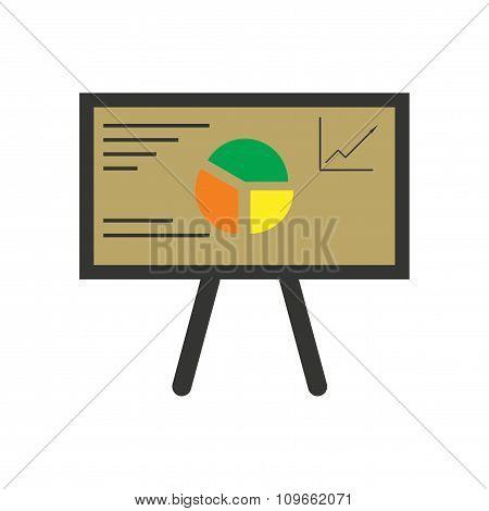 Modern flat icon bright chart diagram presentation