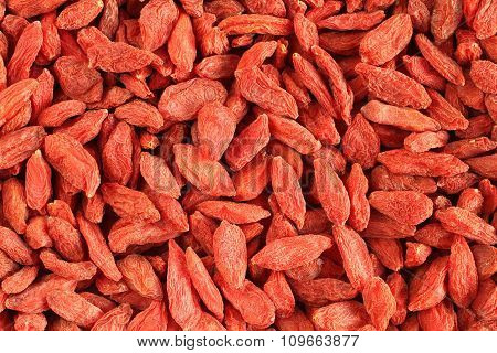Red dried goji berries (Lycium Barbarum - Wolfberry) background