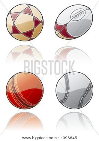 Design Elements 50C. Sport Balls Icon Set