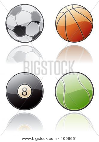 Design Elements 50A. Sport Balls Icon Set