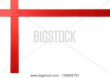 two red ribbons, isolated on white