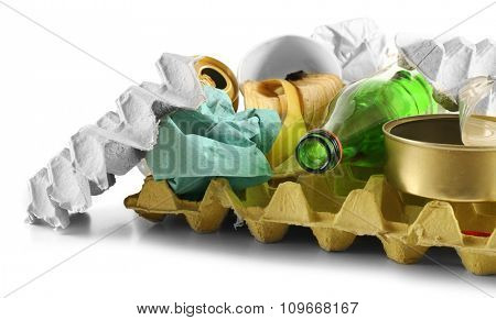 pile of rubbish on white background