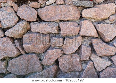 Background of empty stone wall