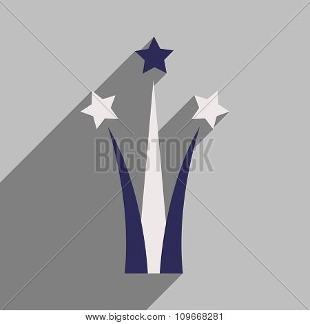 flat icon with long shadow Star salute