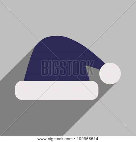 flat icon with long shadow Santa hats