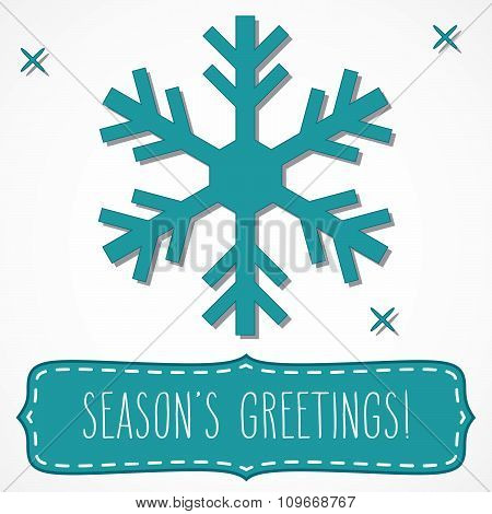 Snowflake Frame And Season's Greetings