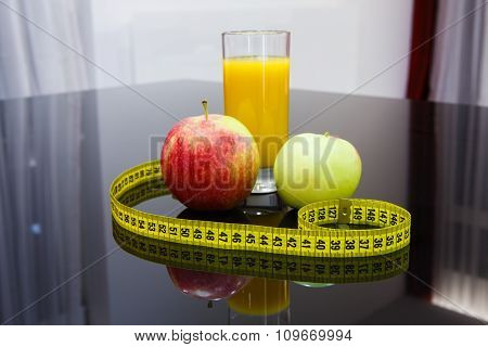 Healthy Diet Food - Fruits And Juice
