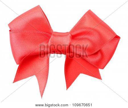 Satin ribbon isolated on white
