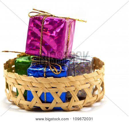 Gift Box In Basket