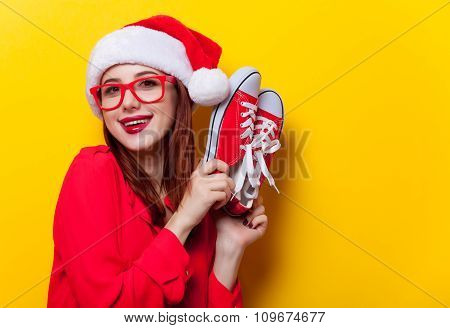 Woman With Gumshoes