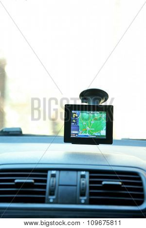 Car video recorder on window