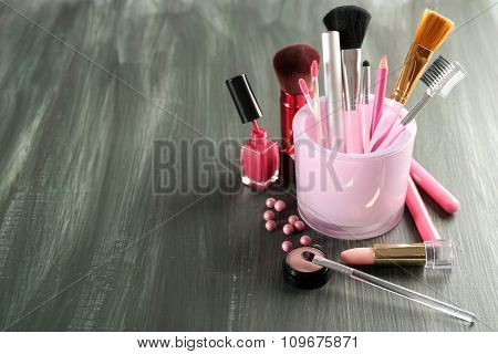 Make up set closeup