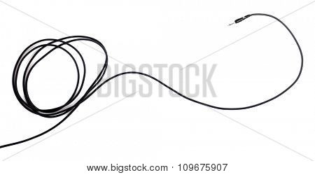 Black wire isolated on white