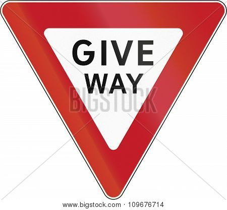 Road Sign In The Philippines - Give Way
