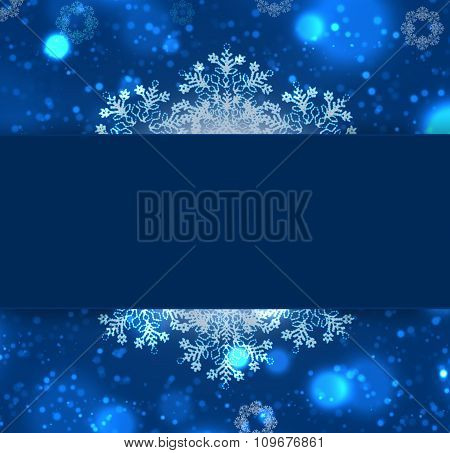 Card On Christmas Abstract Background.