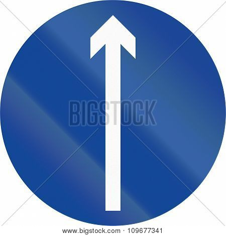 Road Sign In The Philippines - Direction To Be Followed - Proceed Straight Only