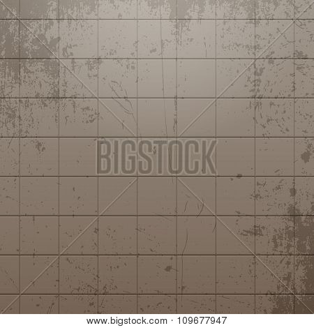 Realistic dirty Tile Wall Background