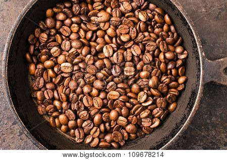 Coffee Beans During Roasting