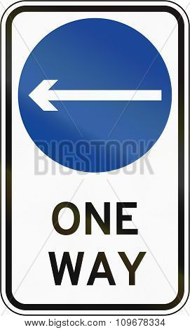 Road Sign In The Philippines - Direction To Be Followed - Proceed Left Only On One Way Street