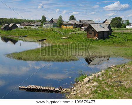 Small Village Kindasovo, Karelia, Russia