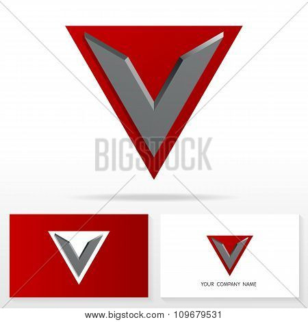 Letter V logo icon design template elements - Illustration.