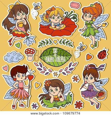 Color Set About Little Fairies, Cartoon Collection