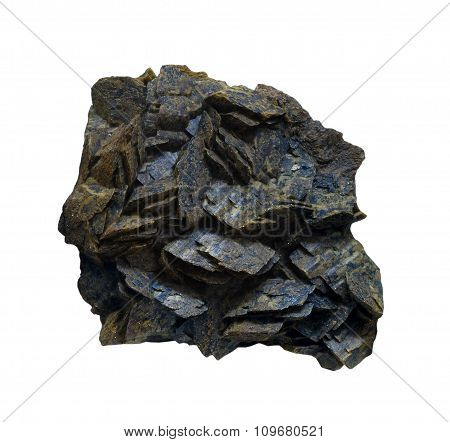 Spathic Iron Ore On A White Background, Isolated